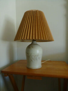 Beautiful, small lamp, ceramic base
