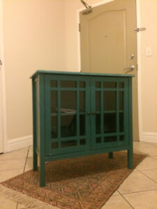 Glass Cabinet & End Table