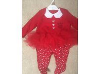 Christmas Baby Grow (0-3 months)