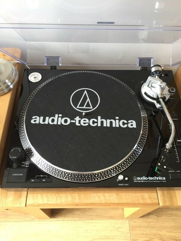 audio technica at lp120 usbhc black turntable vinyl record player in paisley renfrewshire. Black Bedroom Furniture Sets. Home Design Ideas