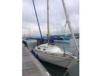 Holman and Pye Hustler 30 Sailing Boat