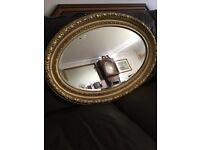 Lovely antique gilt framed mirror