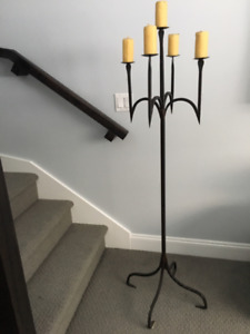 Candle Holder- Wrought Iron from Czech Republic