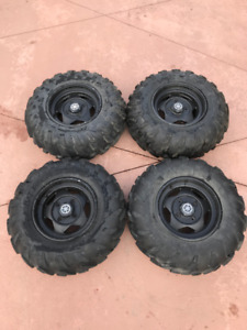 Set of Maxxis ATV Tires on Yamaha Rims for Sale $1000