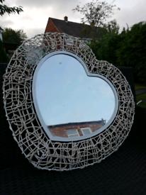 Dunelm heart shaped mirror