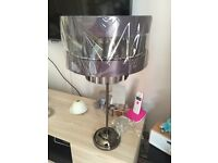BNWT NEXT Black Chrome Mandalay Beaded Table Lamp