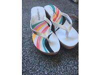 B/new urban beach wedge sandals