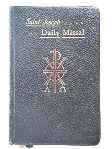 vintage catalogues + vintage Daily Missal