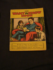 """vintage 1929 """"The Want To Know BooK"""""""