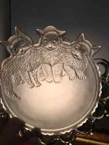 Westmoreland Cat Glass Wall Plate