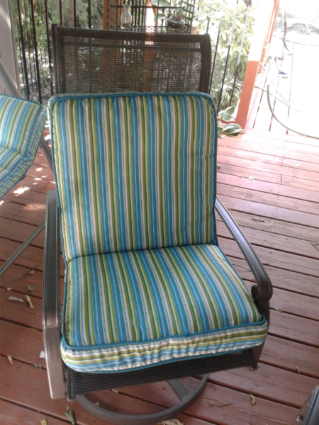 used furniture kitchener 2 x brand new outdoor cushions lounger 1 chair patio garden furniture kitchener 8898