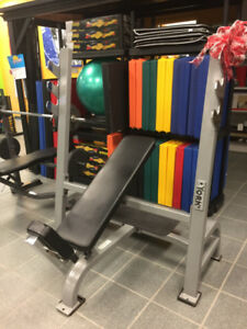 Banc d'exercice commercial York Olympique ajustable
