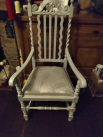 4 x Oak antique vintage dining chairs