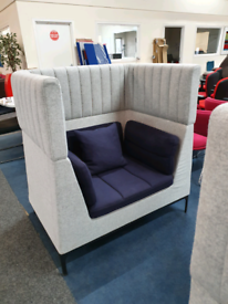 Used high sided Allermuir armchairs, huge Glasgow Showroom