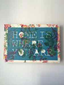 """Urban Outfitters """"Home"""" Quote Canvas Art Print Kingston Kingston Area image 5"""