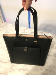 KATE SPADE Black Large Leather Tote Bag - for Work; fits laptop!