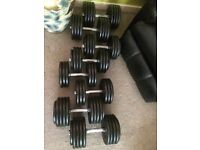 6 pairs Heavy Pro Dumbbells Set Plus Rack