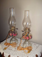 Vintage Oil 'look-a-like' Lamps