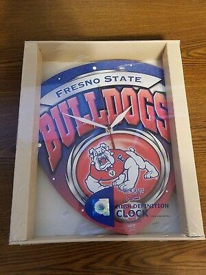 NCAA Fresno State University High Definition Plaque Clock
