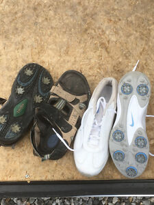 Ladies size 8 Golf shoes and sandals