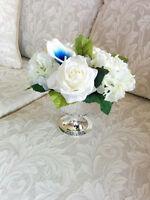 Wedding, Bridal Shower, Baby Shower Silk Flowers Centerpieces