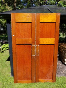 Pair Vintage Doors Salvaged from Church Renovation