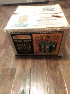 Brand new vintage Thermos safety heater