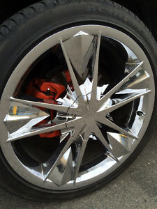 """20"""" Chrome Multi fit Rims and tires for trade or $800 cash"""