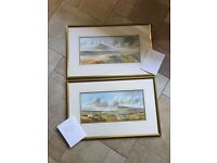 ART COLLECTORS - 2 Watercolours (Scenes From Donegal & Connemara By NI Artist RB Higgins