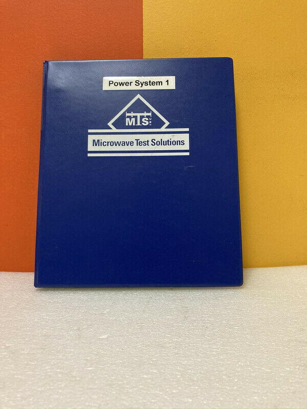 Microwave Test Solutions Power System 1 Manual