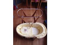 Unisex Moses Basket & Stand