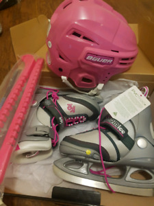 K2 Softboot Adjustable Youth Skates, Guards and Helmet