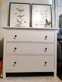 IKEA Hemnes Chest of 3 Drawers (White Stain)