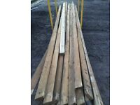 "Timber used 4"" x 2"" x 17ft long."