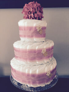 Dusky Pink Diaper Cake Collection by Ava May Diaper Cake Co.