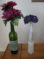 Wedding Decorations - Assorted Lace Covered Jars *New Price!