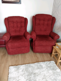 Rise & Recline pair of armchairs
