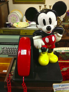 ★ Mickey Mouse Touchtone Telephone, Works ★