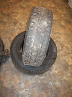 Pair of winter studded tires 185/65R14