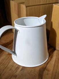 10 enamel 'The White Company' small jugs... perfect for Wedding Tables
