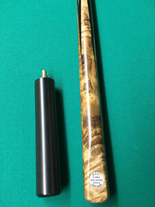 Snooker cue, case and extension - excellent