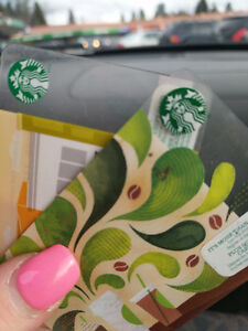 Starbucks gift cards with 100 dollar balance on them