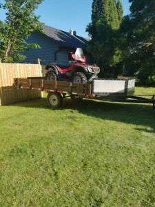 2007 Honda Rubicon Trail Edition with 2-sled Trailer