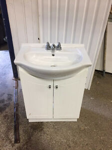 Sink vanity and taps