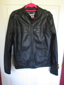 Men's Moto Gear Black Faux Leather Jacket