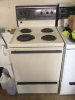 24 inch Apartment Size Stove - Almond Great Condition