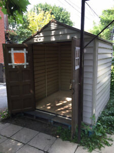 Cabanon Shed - Duramax StoreMax Vinyl Shed, 7 x 7-ft
