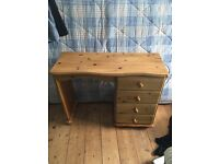 Beautiful shabby chic pine dressing table - up cycle / project