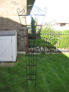 arched garden arbor - wrought  iron