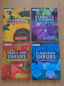 Pristine set of 4 gardening books